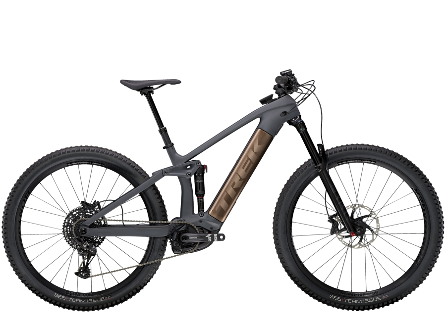Trek Rail 9.7 L Solid Charcoal to Root Beer Ano Decal