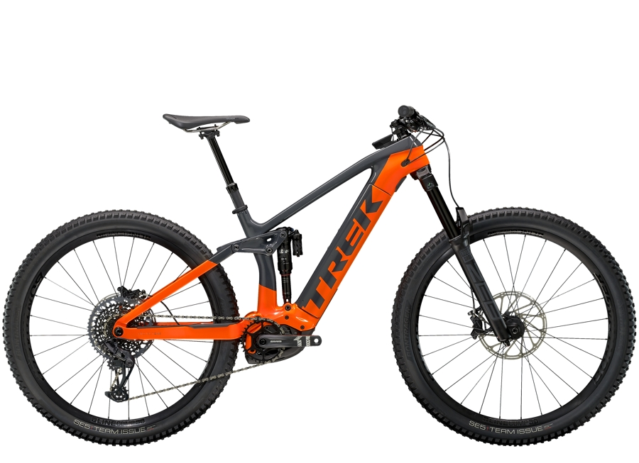 Trek Rail 9.8 L Solid Charcoal/Radioactive Orange