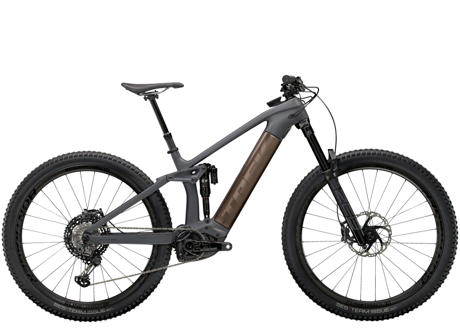 Trek Rail 9.9 XTR L Solid Charcoal to Root Beer Ano Decal
