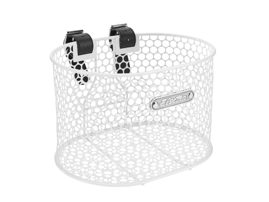 Electra Basket Honeycomb Small Strap White Front