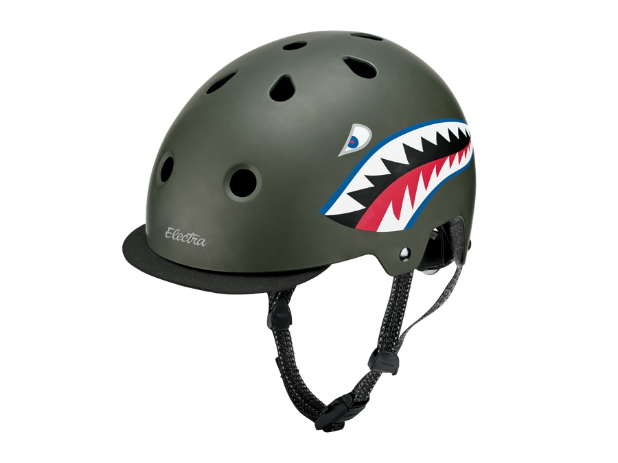 Electra Helmet Lifestyle Lux Tigershark Medium Green CE